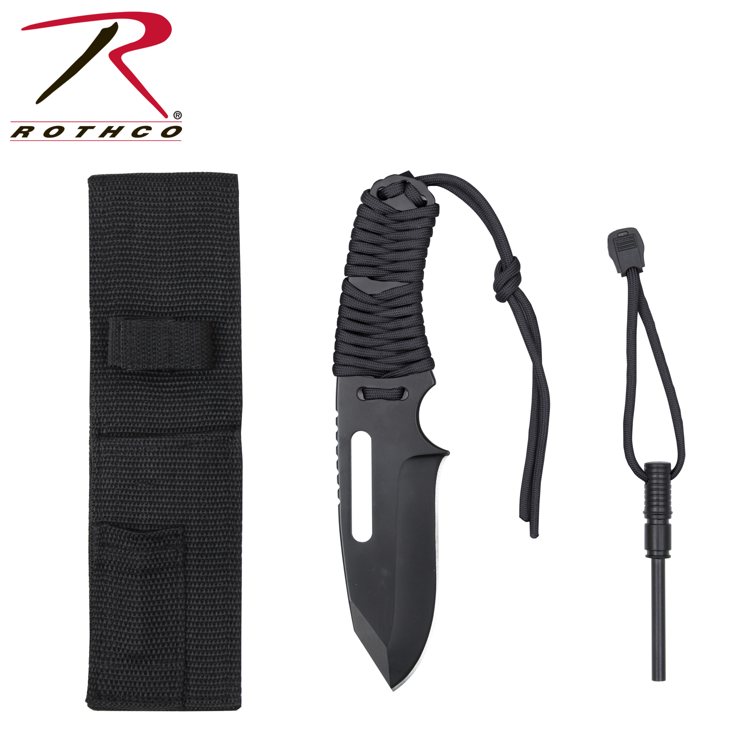 Hikepro Large Paracord Knife With Fire Starter
