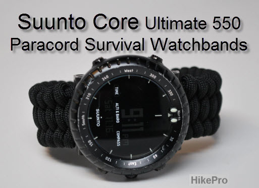Hikepro Suunto Watch Ultimate 550 Paracord Survival Gear