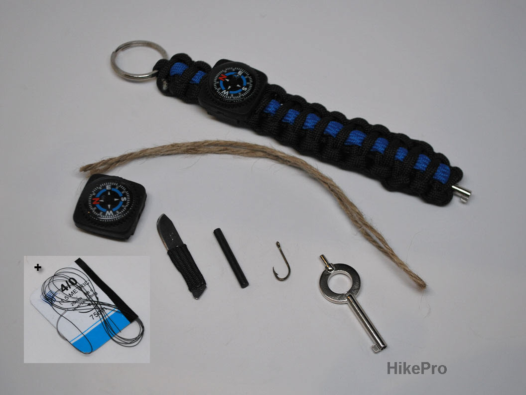 hikepro ultimate 550 paracord survival keychains