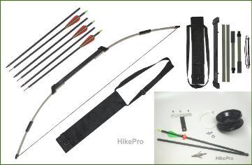 Hikepro survival bows bowfishing for Fishing bow kit